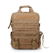 Men Tactical Molle Laptop Bag Black Outdoor Sports Traveling Camping Bags Combat  Shooting Assualt Backpack