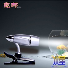 Silver warhead book clip Jane LED reading light bookcase light eye care bed small book holder can bend clip