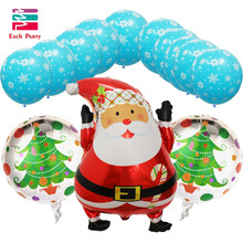 13pcs/lot Santa Claus Christmas foil balloons helium balloon Christmas decoration balls inflatable kids Christmas classic toys(China)