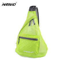 NAVO Foldable Triangle Messenger Bag Mesh Fabric See Through Crossbody Bag Seeingly Bags Casual Bookbag Triangle Bag