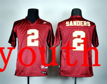 New Arrival Nike Youth Nike Florida State Seminoles Deion Sanders 2 Red College T-shirt Jersey