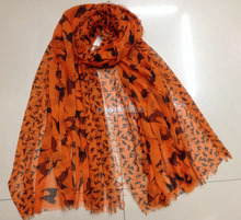 2014 New Fashion Women Cat Scarf Women Accessories Scarves Hijab Animal Print Scarf Voile  Shawl 180*110cm