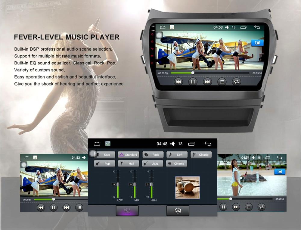 4 Android 6.0 DVD GPS Hyundai IX45 Santa Fe 2013 2014 9 1024600