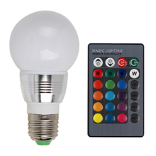 IR Remote Control 16 Colors LED Lamp RGB Spot Bulb Atmosphere Stage Light Changeable Lighting AC 85V-265V E14 E27 - iTimo Official Store store