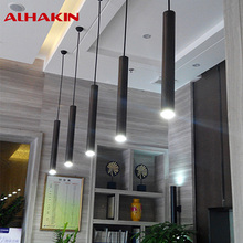 ALHAKIN 5W 7W LED Pendant Light Aluminum Creative Tube Height 28/48/60cm Modern Simple Lighting for Restaurant Bars Dinning Room