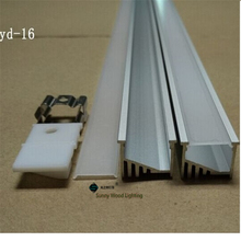 10pcs/lot led aluminium profile for 14mm PCB board,110 degree led channel , led bar light,YD-16(China)