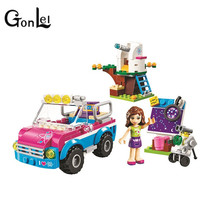 GonLeI Friends 10555 Olivias Expeditions Auto Car Toys DIY Building Brick Toys Girls Gift Compatible 41116