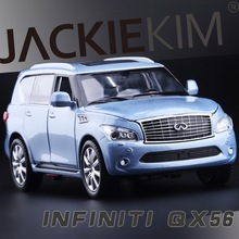 Free Shipping licensed 1:32 Infiniti QX56 four open door pull back alloy metal car models children's car toys high simulation