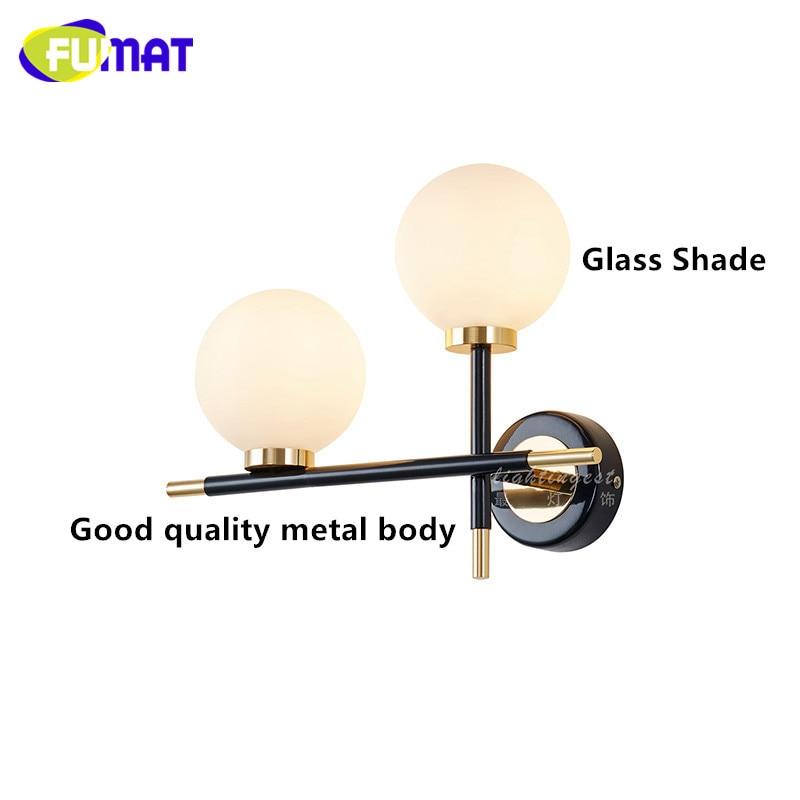 2 Heads Glass Wall Lights 4