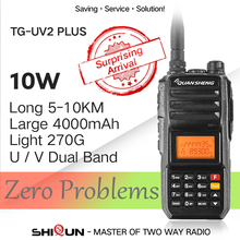 Update Walkie-Talkie 10 KM QuanSheng TG-UV2 Plus 10W Long Range Talkie Walkie 10 KM 4000mah Radio vhf uhf Dual Band Long Standby