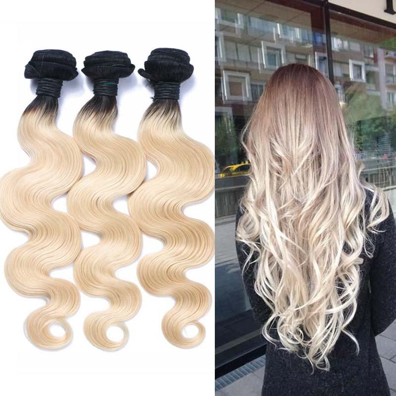 New Ombre Blonde Brazilian Hair 8A Brazilian Virgin Hair Three Tone Ombre Brazilian Hair body wave weave human hair<br><br>Aliexpress