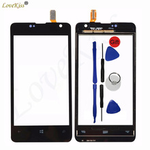 "4"" N430 Touchscreen Touch Panel For Nokia Lumia 430 N430 Touch Screen Sensor LCD Display Digitizer Front Glass Cover Replacement(China)"