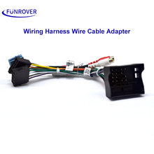 FUNROVER Car ISO Radio Plug For Volkswagen VW Golf Passat Skoda Seat Lead Loom Wiring Harness Wire Cable Adapter Power ISO cable