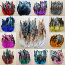 Cheap! 50pcs 13 Colors Beautiful Rooster feather 5-8''/12.5-20cm pheasant chicken plume Free shipping