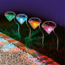 Stainless Solar lawn light for garden decorative 100% solar power led solar light outdoor led solar lights Diamond Yard lighting
