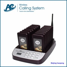 alphanumeric wireless restaurant pager system keypad transmitter(charger base)*1+coaster pager*16(China)