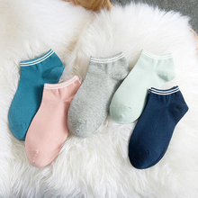 2017 1 pair new women socks with white stripes fashion cotton comfortable socks knit frill trim ankle socks hot