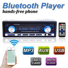 NEW Car Radio Bluetooth V2.0 Autoradio JSD 20158 Car Stereo Audio In-dash FM Receiver Aux Input Receiver USB MP3 MMC WMA Radio(China)