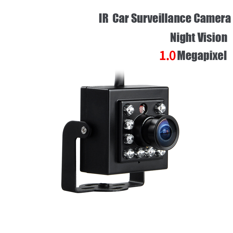Free Shipping AHD 3.6mm 1.0MP IR Night Vision Mini HD Car Camera for Auto Vehicle Truck School Bus Boat mobile dvr surveillance <br>