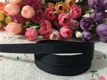 15120346,New arrival 3/8'' (10mm) #030 black solid color grosgrain ribbons DIY hairbow ribbon hair accessories 10 yards