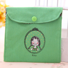 Cotton and linen fresh restore ancient ways childhood health cotton bag South Korean creative lovely sanitary napkin bag