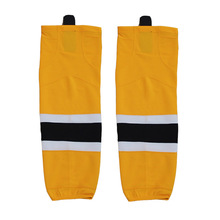 Free shipping Ice Hockey Equipment Socks Team Sport Support Hosiery Adult Hockey Sock Ice Hockey Socks W015 yellow(China)