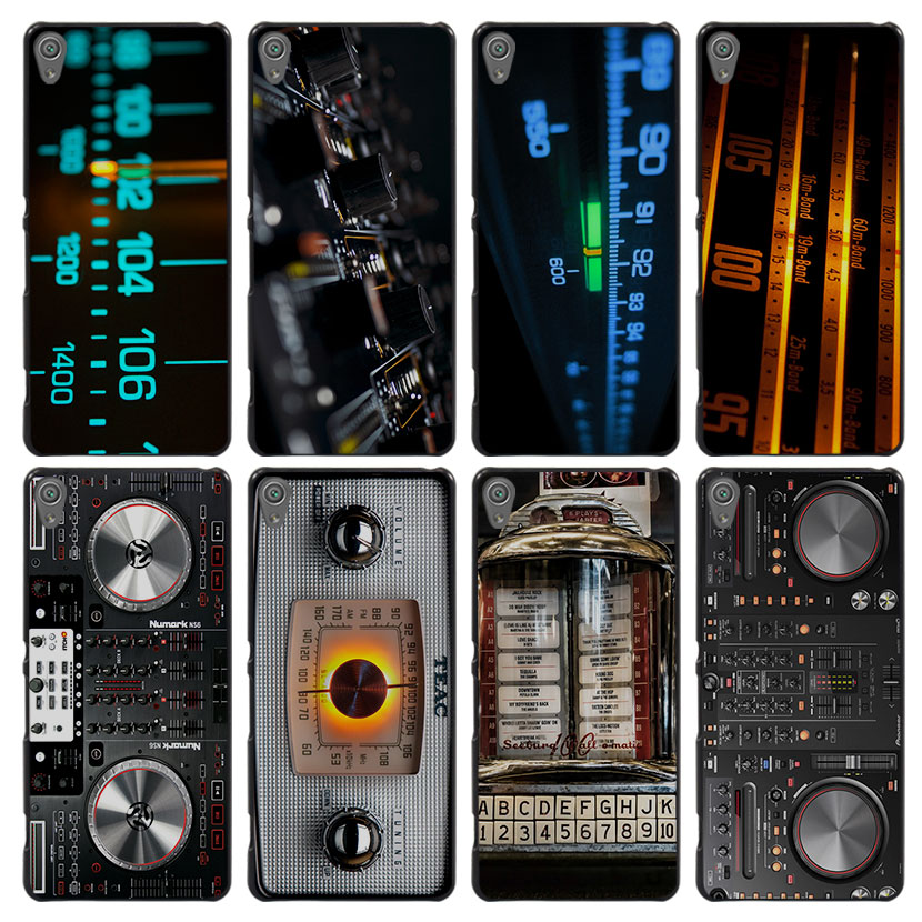 DJ Radio Old Style Case Cover for Sony Ericsson Xperia X XZ XA XA1 M4 Aqua E4 E5 C4 C5 Z1 Z2 Z3 Z4 Z5(China (Mainland))