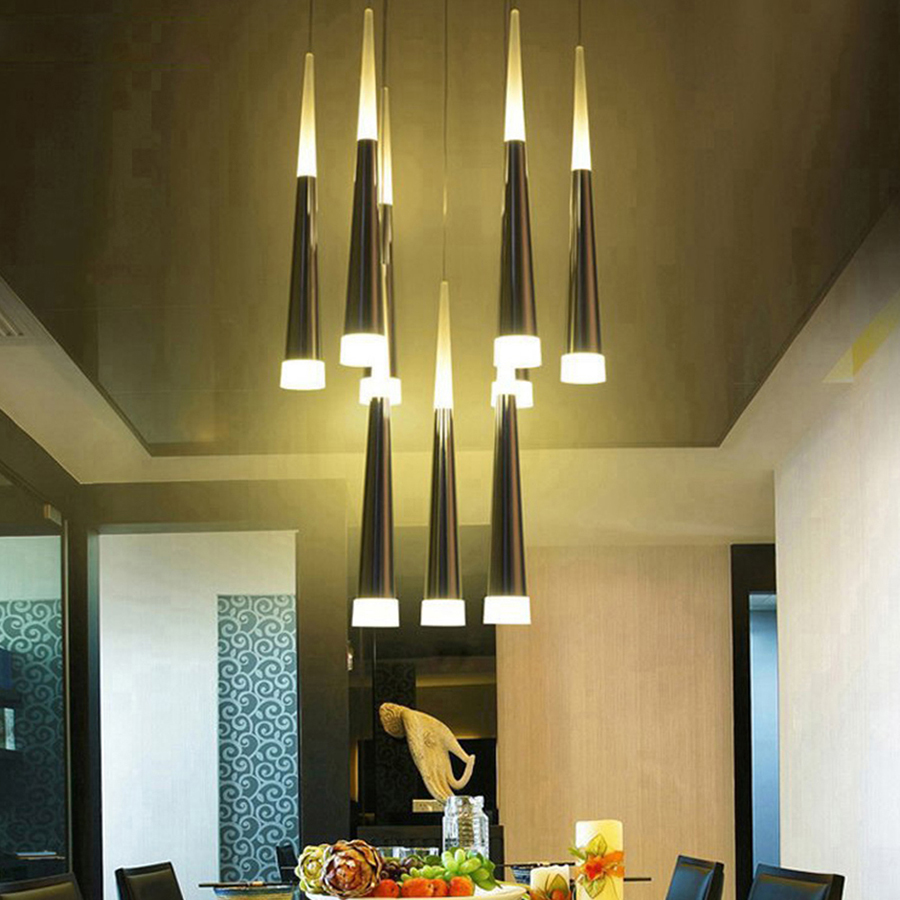 Modern LED Pendant Lamps Iron Metal Light Fixtures Fashion Living Bedroom Decorative Restaurant Dining Kitchen Pendant Lights<br>