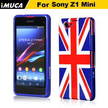 case cover for sony xperia z1 compact mini D5503 phone cases IMUCA original brand designer UK flag tpu cheers for word cup
