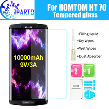 HOMTOM HT70  Tempered Glass 100% Good Quality Premium 9H Screen Protector Film Accessories for HT70 (Not 100% covered)(China)