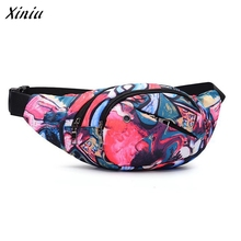Unisex Women Men Printed Waist Pack Bicycle Belt Famous Brand Crossbody Bags women messenger bag bolsos mujer(China)
