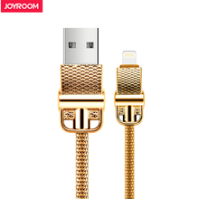 Joyroom Metal USB Cable For iPhone 7 metal braided wire Charger Data Cable For iPhone 7 6 6S Plus 5 5S iPad Mobile Phone Cables(China)