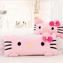 1pc 60cm Super Cute Pink Hello Kitty Plush Pillow Nap Cushion Stuffed Soft Gift For Girl Home Pillow(China)