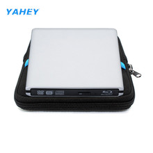 USB 3.0 Bluray External Optical Drive 3D Player BD-RE Burner Recorder DVD+/-RW DVD-RAM for Computer +Drive Sleeve Case Pouch Bag
