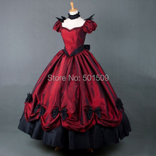 luxury bubble sleeve Medieval dress Renaissance gown royal princess queen Victoria dress Belle Ball(China)