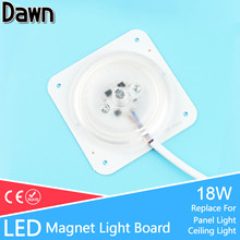 Buy 8x8cm 18w Ultra Thin Led Source Light Board Module Replacement Bulb Recessed Ceiling Light Panel Lamp 220V Energy Saving for $2.17 in AliExpress store
