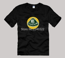 The new F1 team short sleeve cotton Lotus Cars T-shirt(China)
