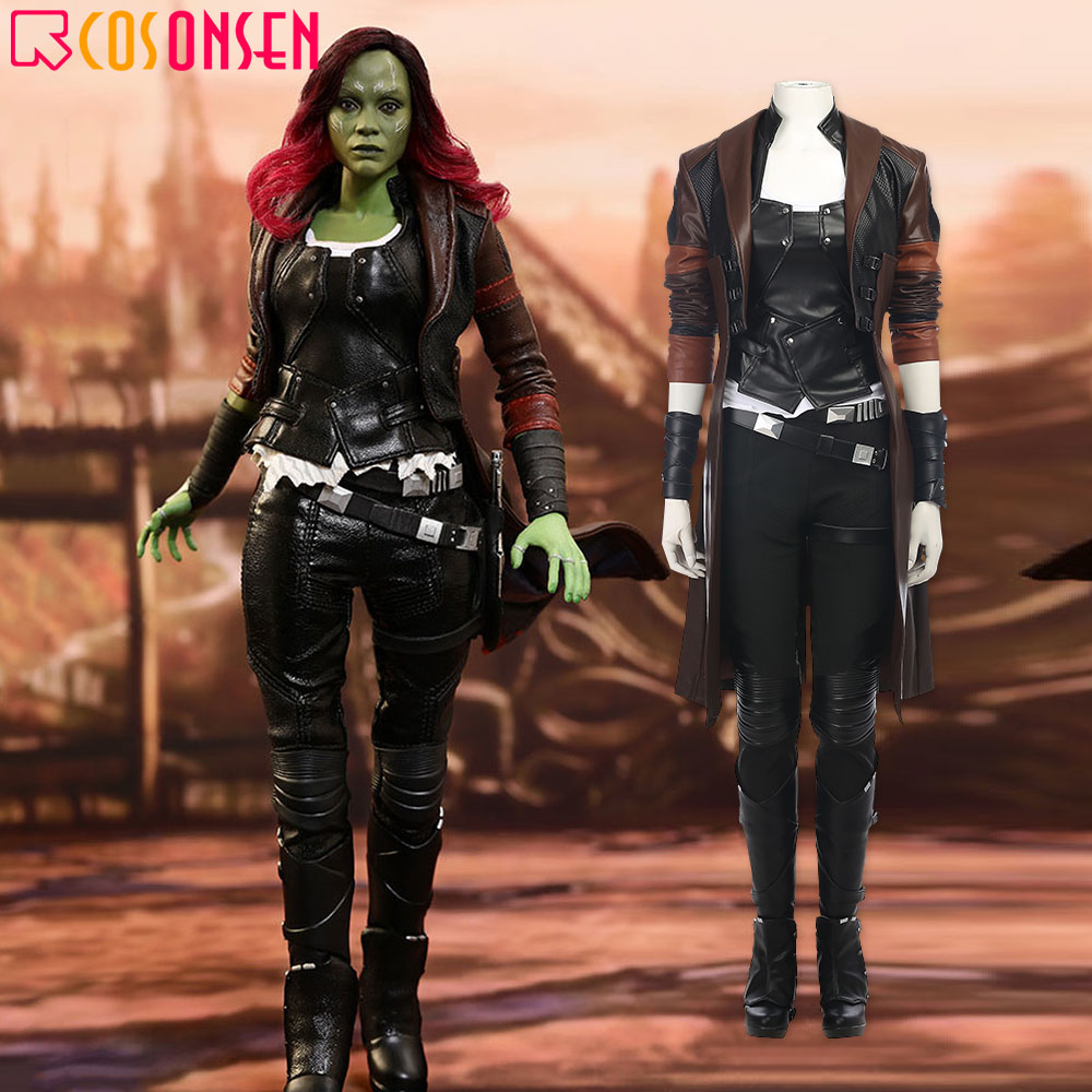 Guardians of the Galaxy 2 Gamora Cosplay Costume Halloween Outfit Fancy Dress