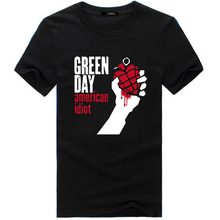 2017 summer design Man Tshirt Famous band  Green Day printed Tops&Tees T shirt Rock Hip Hop T shirt fashion picture