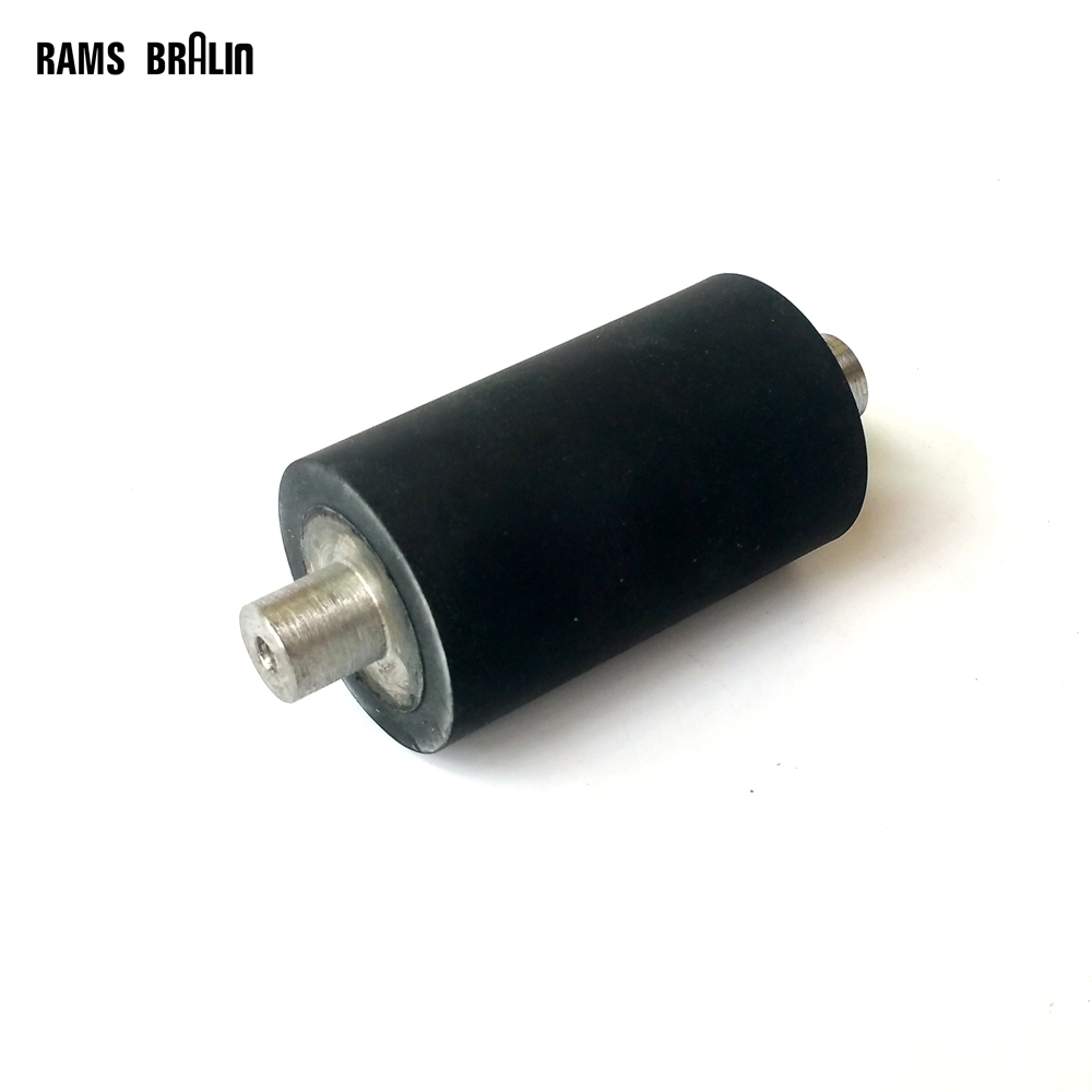 1 piece 1 1/2  *2 1/2*1/2*3 1/2 Rubber Roller with Shaft Belt Sander Contact Wheel<br>
