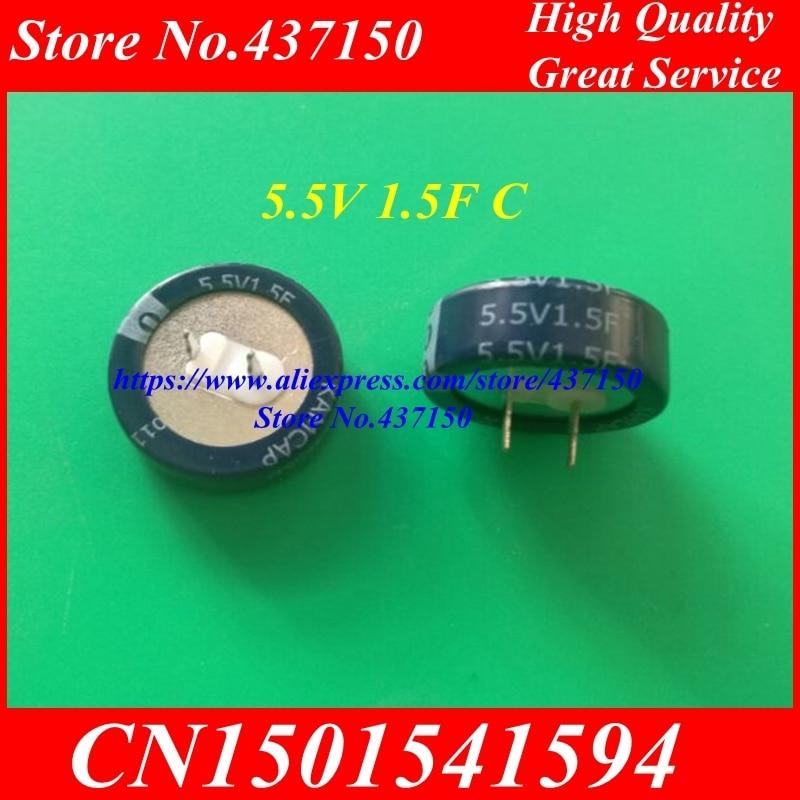 2pcs 5.5V 1.5F C Type Farad  Supercapacitor Farad Capacitor 5.5V 1.5F C Type New