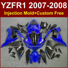 Persomalize tmotorcycle fairings for YAMAHA YZFR1 2007 2008 Injection black bodywork YZF R1 YZF1000 YZF 1000 07 08 body parts