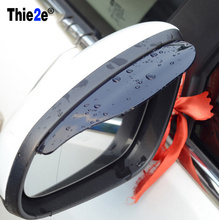 2 Pcs/Set Rearview Mirror Rain Eyebrow Board Cover Rainproof Shield Visor Shade Gear PVC Accessories For Toyota Camry 2015