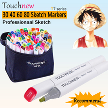 168 Colors Touchnew Pro Sketch Markers Double Head Alcohol Marker Drawing for Manga Marcador Caneta Touch Marker Painting