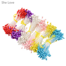 She Love 500pcs Plain Double Headed Flower Stamens Making Craft Floral Supplies Handcraft DIY