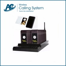 Long range alphanumeric Wireless restaurant paging system keypad transmitter(charger base)*1+coaster pager20(China)