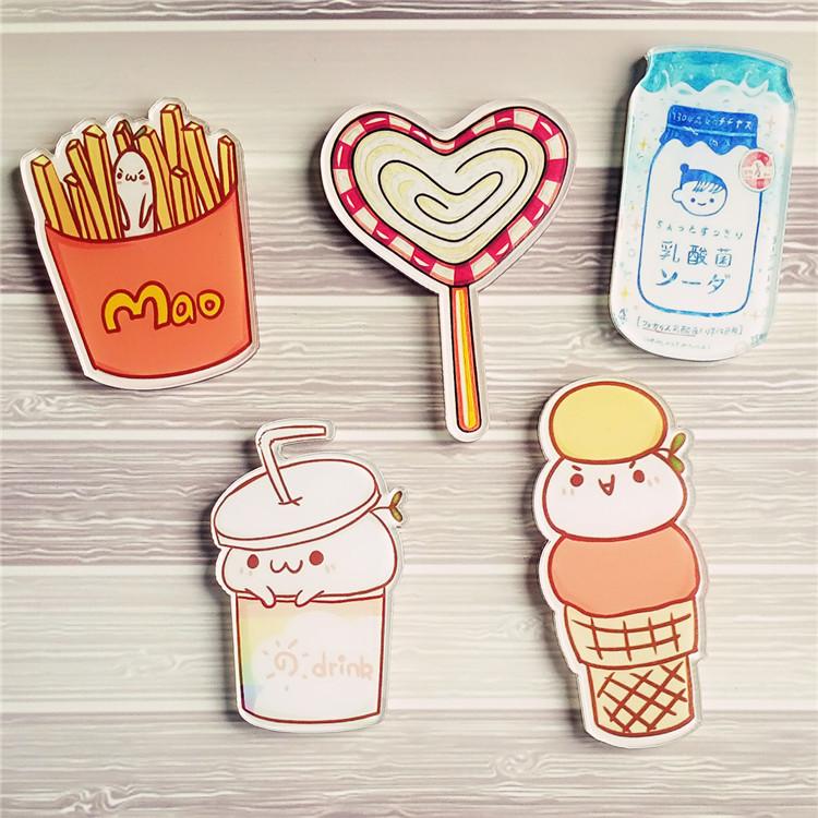 1PCS-Cartoon-Harajuku-Kawaii-Coffee-Drinks-Ice-Cream-Acrylic-Pin-Brooch-Icon-Backpack-Clothes-Decoration