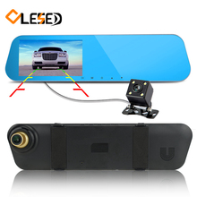 dual lens car camera rearview mirror auto dvrs cars dvr recorder video registrator full hd1080p dash cam portable camcorders