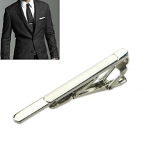Multi Style Gentleman Silver Metal Simple Necktie Tie Clips Bar Clasp Practical #Y51#(China)