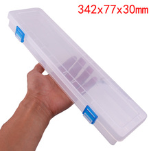 14 Inch  Long Strip Transparent Parts Box Element Tool box  small Storage Jewellery Components and parts